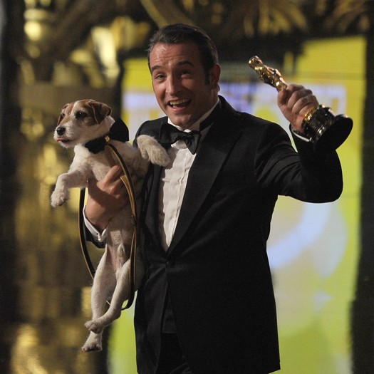 Jean Dujardin with dog Uggie
