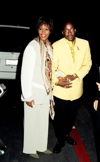 1993, with Bobby Brown at the MTV Movie Awards