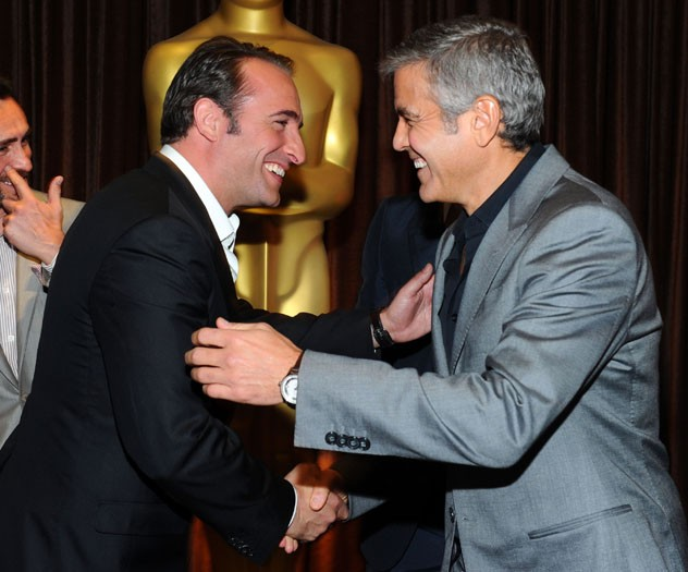 Jean Dujardin and George Clooney