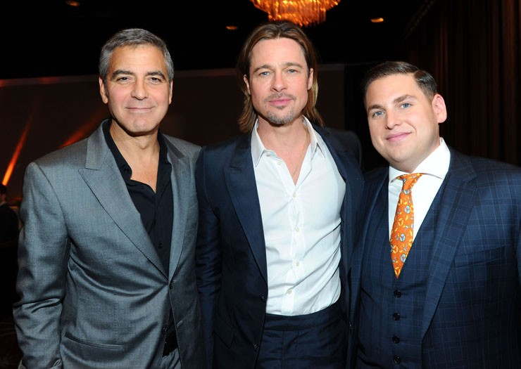 George Clooney, Brad Pitt and Jonah Hill
