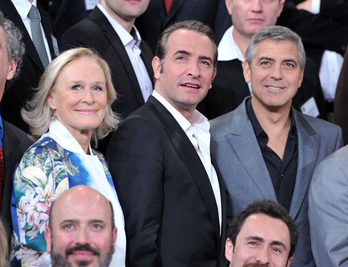 Glenn Close, Jean Dujardin and George Clooney