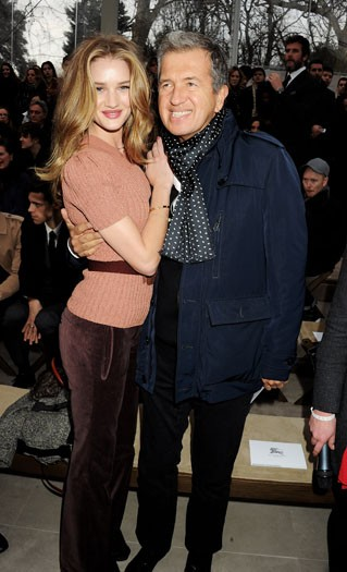 Rosie Huntington-Whiteley and Mario Testino