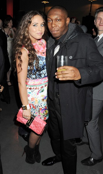 Chloe Green and Dizzee Rascal at the Universal party