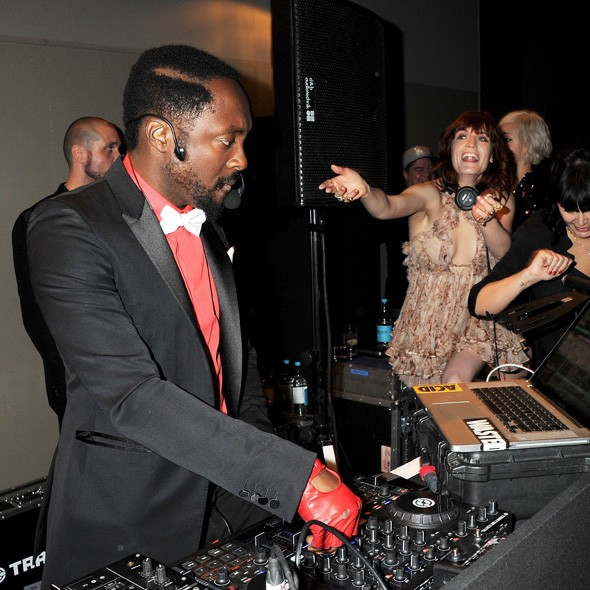 Will.I.Am and Florence Welch at the Universal party