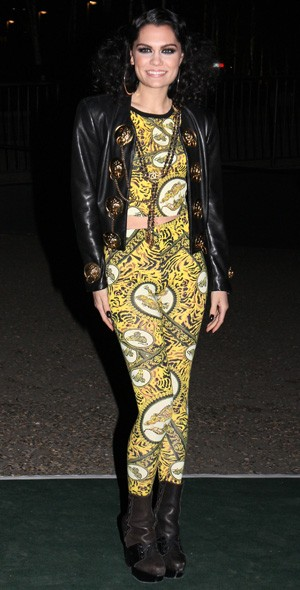 Jessie J arriving at the Universal party