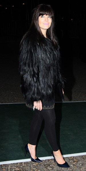 Claudia Winkleman arriving at the Universal party