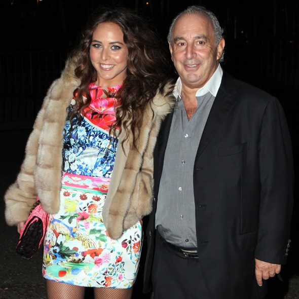 Chloe Green and Phillip Green arriving at the Universal party