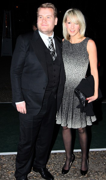 James Cordon and girlfriend Julia arriving at the Universal party
