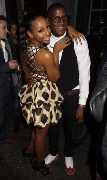 Alexandra Burke and Labrynth at the Sony party