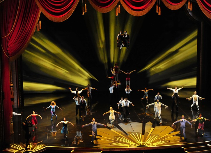 The cast of Cirque du Soleil