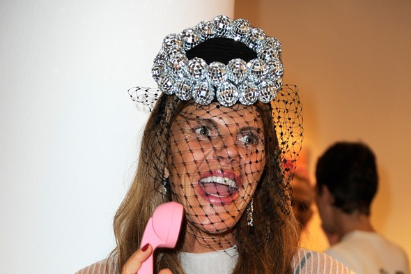 At Carine Roitfeld's 'Irreverent' book signing - PFW SS2012