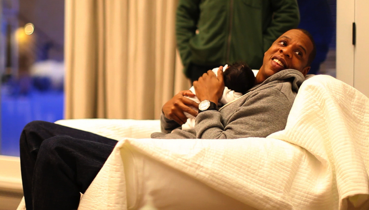 Proud father Jay-Z and baby Blue.
