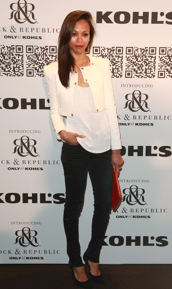 Zoe Saldana, Mena Suvari and friends attend Rock & Republic fashion show in New York