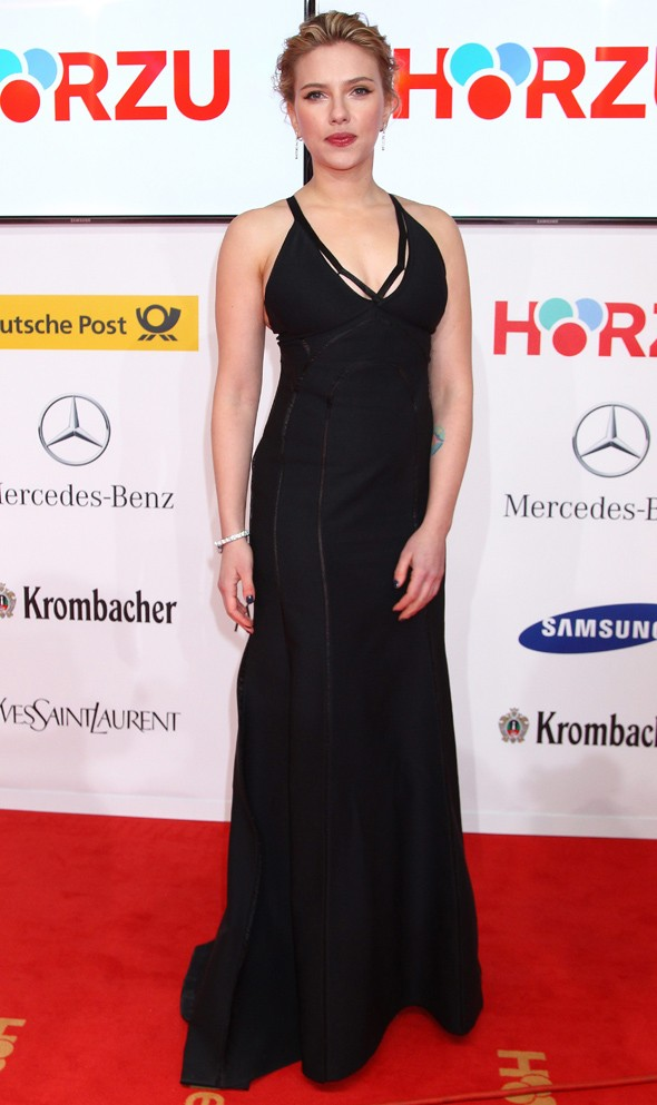 Scarlett Johansson cut an elegant figure at the Golden Camera awards. Photo: PA