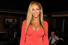 Beyonce is radiant in red for first public appearance since birth of baby Blue