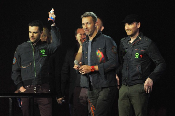 Coldplay win Best British Band