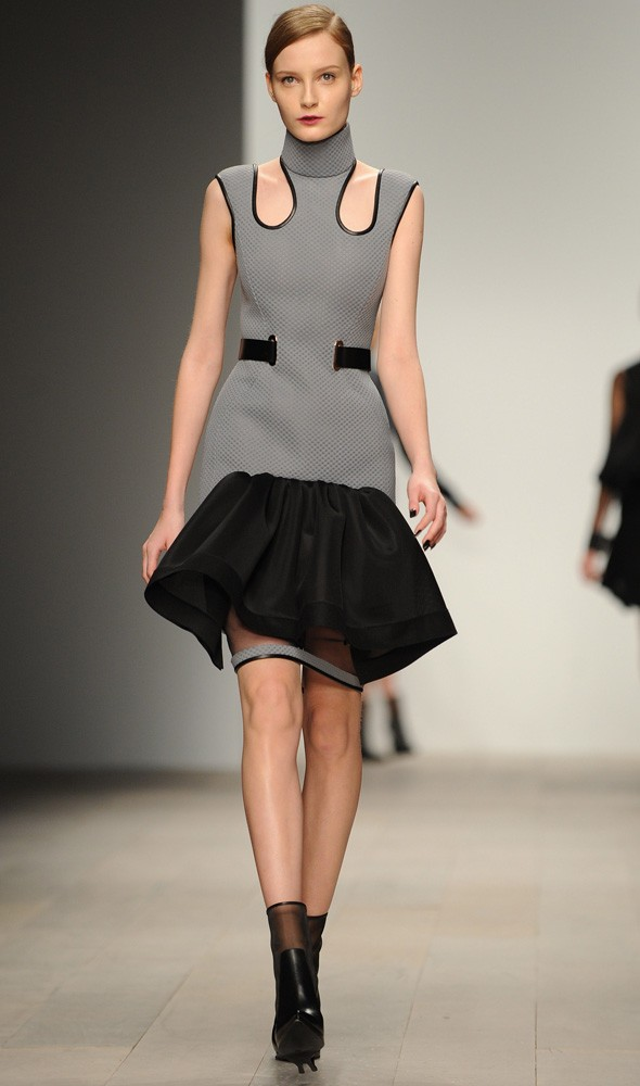 A model walks during the David Koma Autumn/Winter 2012 show. Photo:Getty