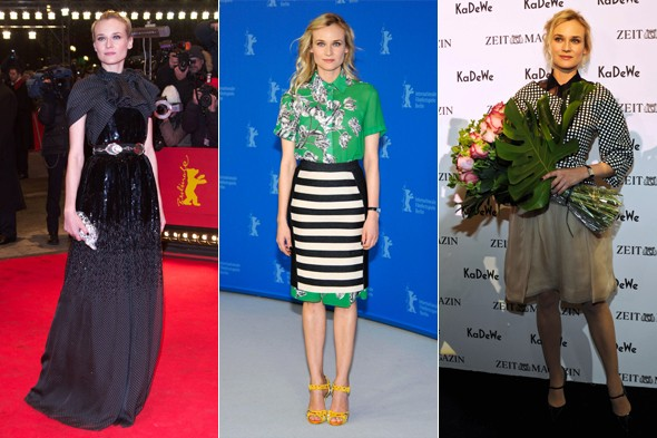 Triple change: Diane Kruger's German wardrobe