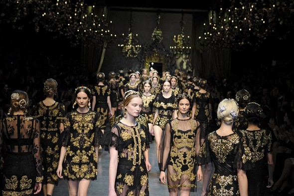 Dolce & Gabbana Autumn/Winter 2012 show finale