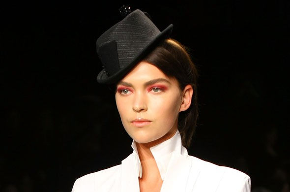 Man's world: Backstage beauty at Donna Karan