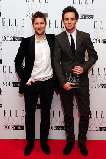 Christopher Bailey and Eddie Redmayne