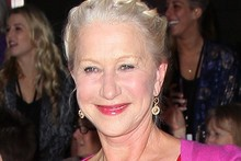 A rare style miss for Helen Mirren in clashing colour blocking