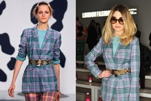 Hot or not (or Scot): Top to toe tartan for Nicola Roberts at Mark Fast