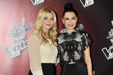 Jessie J goes goth while Holly Willoughby does office wear at The Voice launch