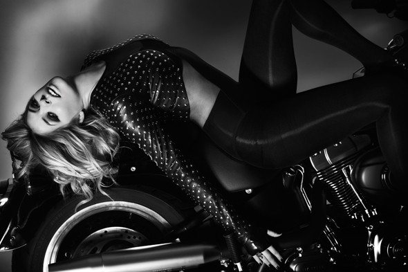 Good golly, Miss Holly! Holly Willoughby dons leathers for racy Cosmo shoot