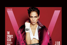 Fight club: J Lo mans up in jock strap on V Magazine cover