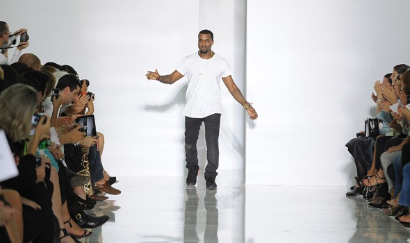 Kanye West's catwalk collection during Paris Fashion WEek