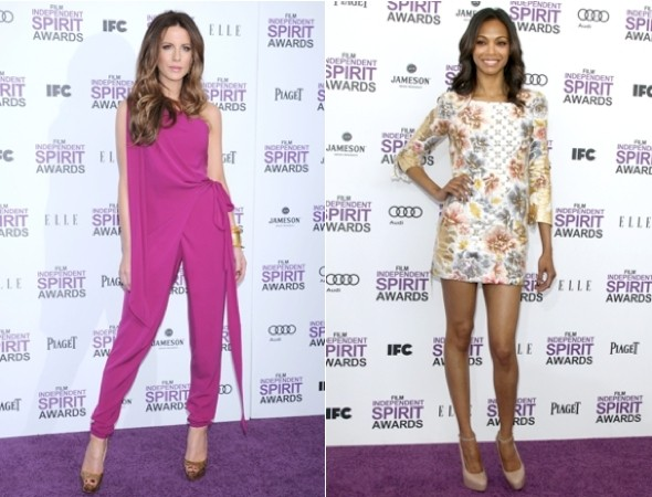 Stepping in to spring: Kate Beckinsale leads the (bright) style pack at Independent Spirit Awards