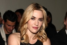 Kate Winslet gets leathered at New York Fashion Week