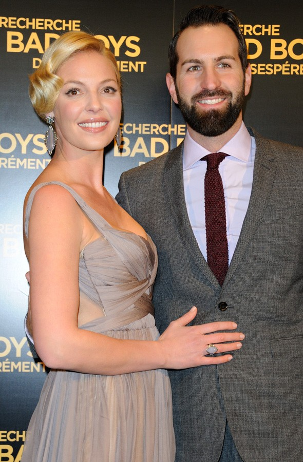 Katherine Heigl and Josh Kelley at the One for the Money premiere in Paris