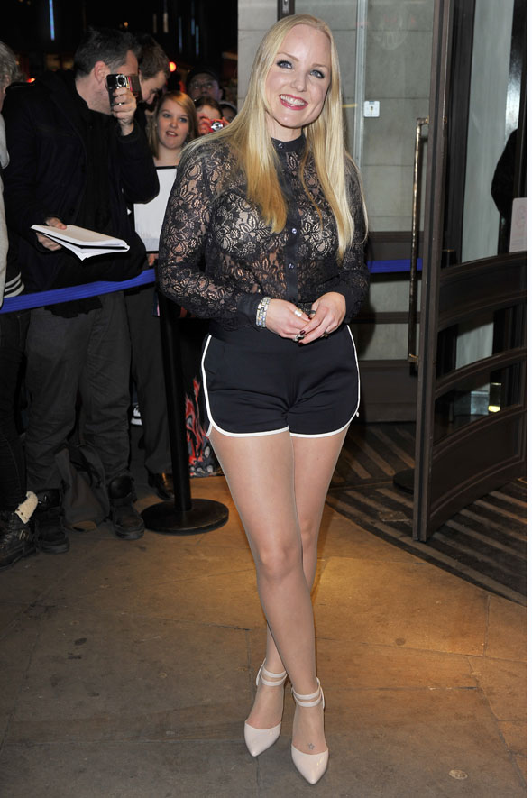 Red carpet gown at the cleaners? Just rock the classic gym shorts 'n' sheer top combo