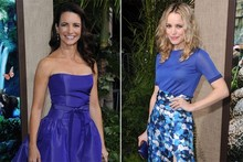 Pretty in purple: Kristin Davis vs Rachel McAdams at Journey 2 premiere