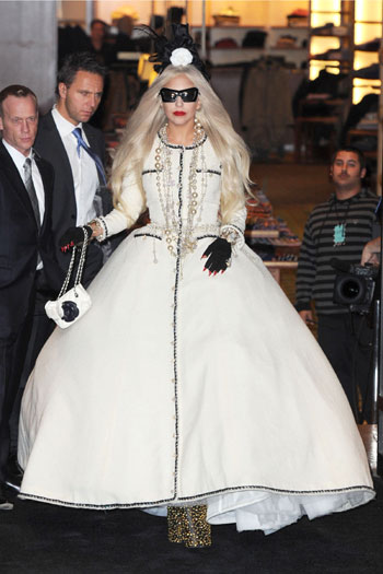 Barney's Lady Gaga workshop opening, 2011, New York