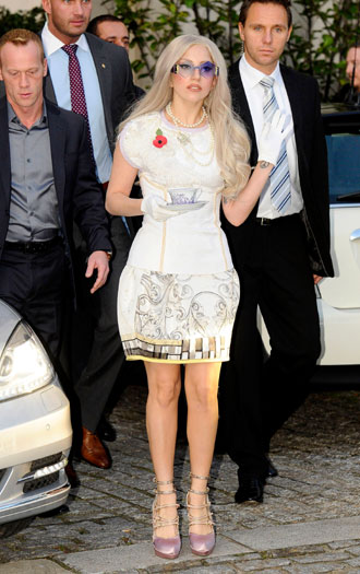 Heading to an X Factor taping, 2011, London