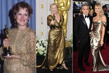 Oscars 2012: Why George Clooney should have worn that gold dress instead of Stacy