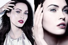 Megan Fox strikes a pose for Armani makeup