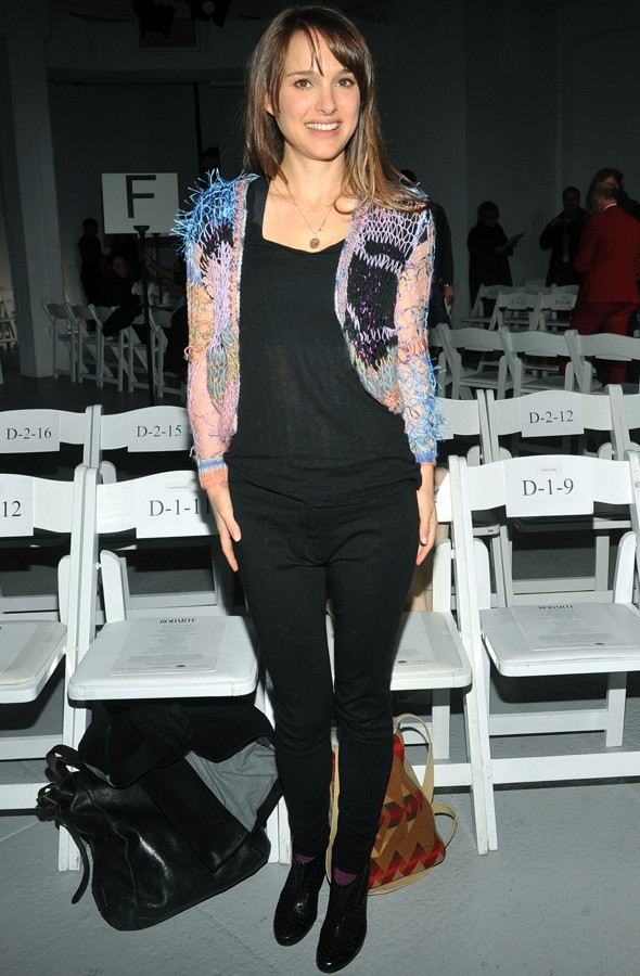 Natalie Portman front row at the Rodarte show during New York Fashion Week