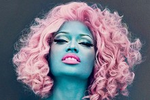 True blue: Nicki Minaj gets a colour change for US Vogue
