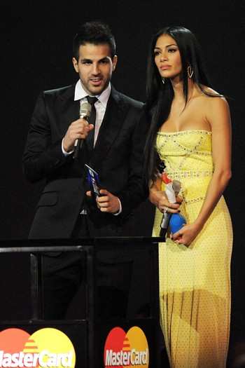 Cesc Fabregas and Nicole Scherzinger present Best Breakthrough Award