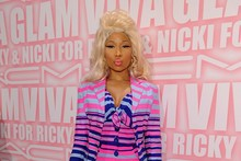 Pass the sunglasses: Nicki Minaj is brighter than bright at Mac makeup launch
