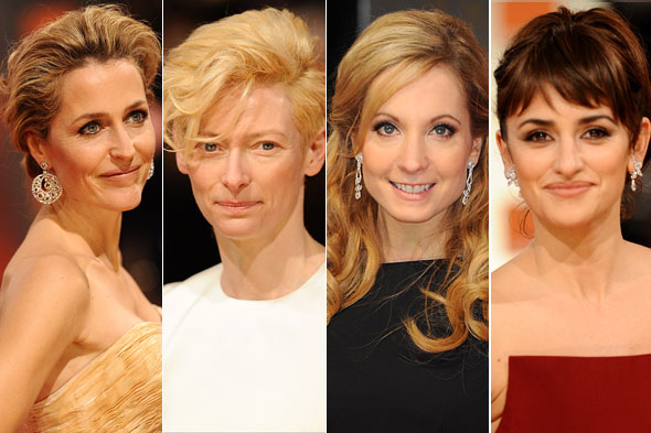2012 Baftas red carpet beauty