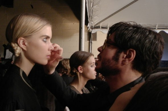 Backstage at Marc Jacobs with Francois Nars and Guido