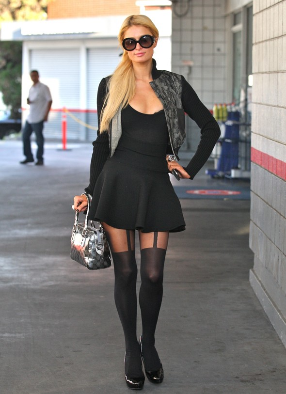 This is what Paris Hilton wore to a gas station - clearly wasn't expecting paps then...