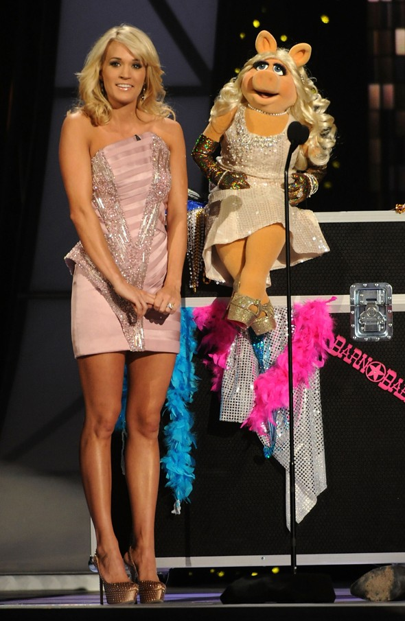 On stage with Carrie Underwood