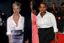 Octavia Spencer pays sartorial tribute to Sharon Stone