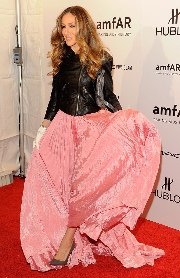 Hot or not: SJP's romantic gown and biker jacket